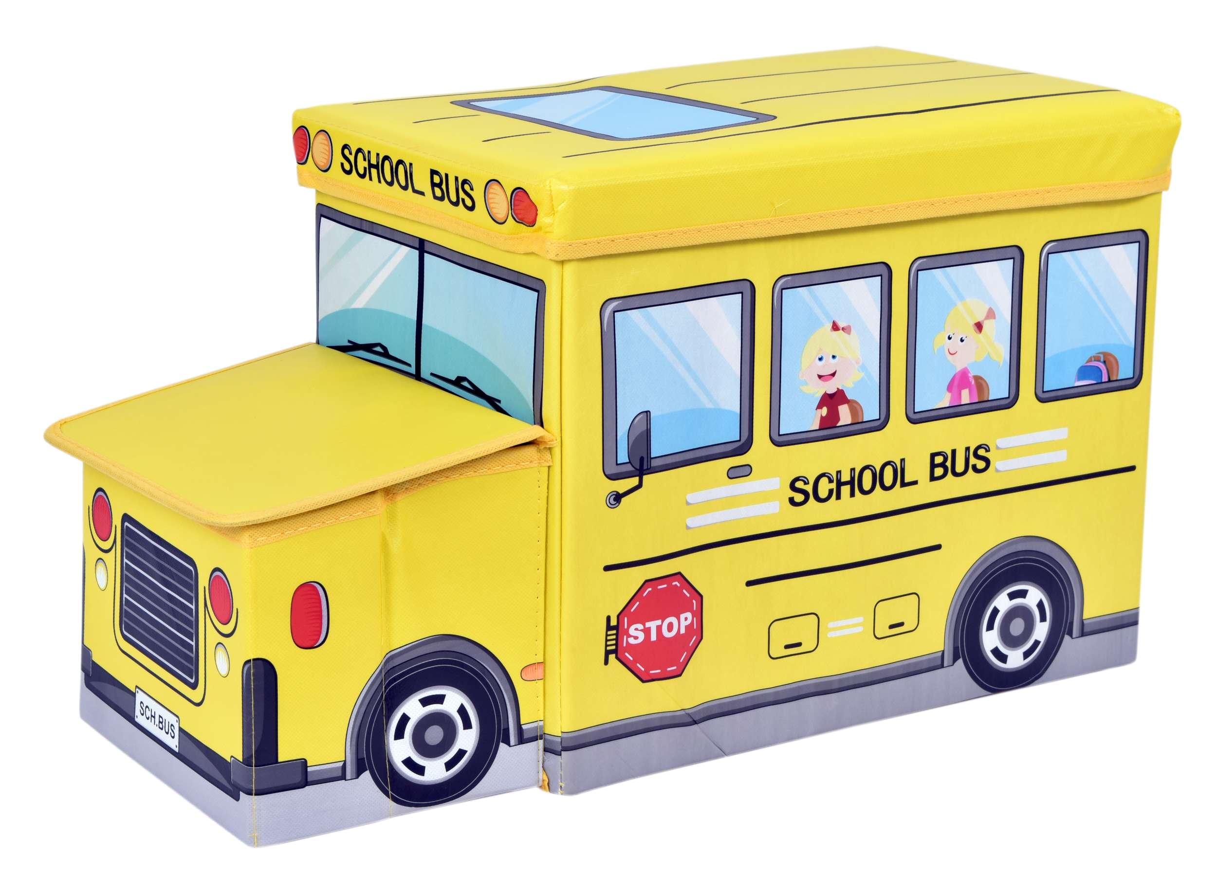 pufa z siedziskiem autobus szkolny zolta