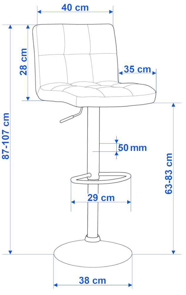 Hoker krzesło barowe ARAKO