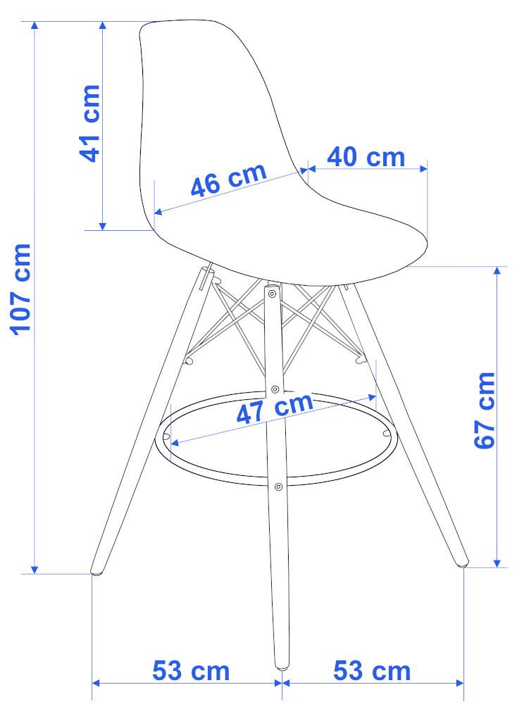Hoker krzesło barowe CAPRI